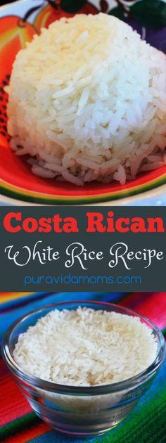 A simple recipe to make Costa Rican style white rice in the rice cooker. Una receta simple para hacer arroz estilo costarricense en la arrocera.