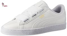 Puma Basket Heart Patent, Sneakers Basses Femme, Blanc (White-White), 36 EU - Chaussures puma (*Partner-Link)