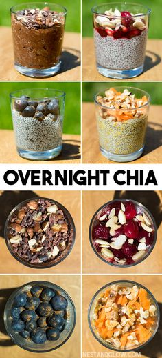 Overnight Chia Pudding 4 Ways - Easy, Healthy and Vegan