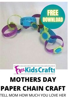 The FreeKidsCrafts team is gearing up for Mother's Day with this Mothers Paper Chain when everybody wants to be sure that Mom knows just how much she is appreciated. Print out our list of reasons why you love her every day or make up your own.