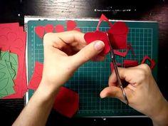 #pirosrózsa6 #papír #rózsa #tutorial #videó #oktatóvideó #dísz #ajándék #diy #alkotásmánia