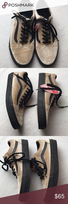 740cdfc07d7d Vans Old Skool Velvet Tan Black men s shoes 9.5 Vans Old Skool Velvet Tan  And Black