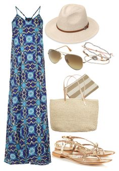 """""""Untitled #140"""" by sofia-608 ❤ liked on Polyvore featuring Topshop, Ray-Ban, Abyss & Habidecor and American Eagle Outfitters"""