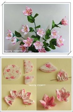 DIY Simple Easy Fabric Flower-attach to bobby pins, bracelets, etc.