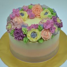 Buttercream cake decorating