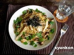 【簡単!!カフェごはん】きのこと大葉の和風バター醤油スパゲッティ 山本ゆりオフィシャルブログ「含み笑いのカフェごはん『syunkon』」Powered by Ameba