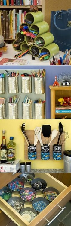 Ideas para reutilizar las latas.