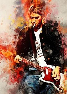 Kurt Donald Cobain detailed, premium quality, magnet mounted prints on metal designed by talented artists. Our posters will make your wall come to life. Scott Weiland, Kurt Cobain Painting, Arte Grunge, Skateboard Design, Rock Posters, Arte Pop, Vintage Music, New Artists, Portrait Art