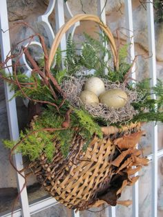 march spring porches | was quite smitten with the texture of this half basket