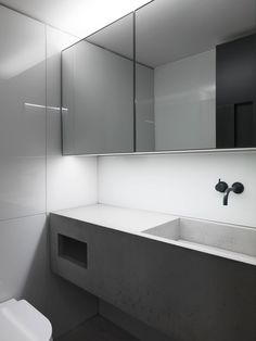 Vola and concrete! Concrete basin for a photography studio, London. Stylish Bathroom, Beautiful Bathroom Designs, Contemporary Bathrooms, Built In Furniture, Concrete Basin, Bathroom Furniture, Minimal Bathroom, Bathroom Interior Design, Basin