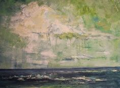 Storm Clouds Over Sea, Beach and Ocean Paintings by Arizona Artist Amy Whitehouse