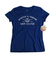 This knitting t-shirt is a must have for any knitter. The bonus of this particular design is that it is a play on words for the common catchphrase
