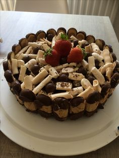 Gluten vrije chocolade bokkepootjes taart