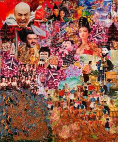 Anderson, In Honor of the Beijing Olympics (email), 2008, collage from street posters, 72x60 in-thumb.jpg.jpeg