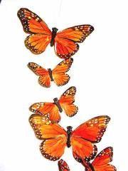 Butterfly Garlands, Wedding Garlands, Artificial, Decorative, Feather Butterflies
