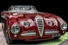 1946 Alfa Romeo 412 Spider Vignale Replica - Cars World Carros Audi, Carros Lamborghini, Lamborghini Gallardo, Maserati, Ferrari 458, Alfa Romeo Spider, Auto Retro, Roadster, Alfa Romeo Cars