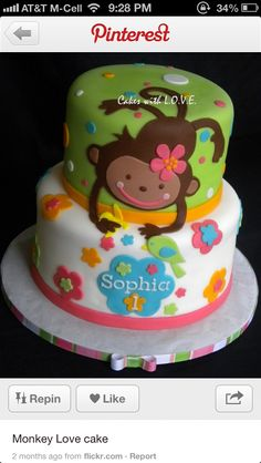 The girls birthday cake