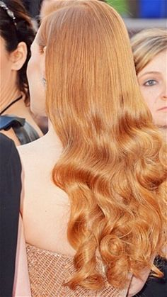 Strawberry blonde. Jessica Chastain has the most beautifully shiny hair!