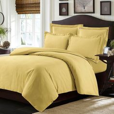 Tribeca Living Valencia Solid Duvet Cover Set,