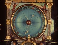 The orrery on the Strasburg Clock model at the Powerhouse Museum