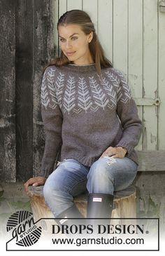 Inner Circle / DROPS - Free knitting patterns by DROPS Design, Inner Circle / DROPS - Knitted pullover with round yoke in DROPS Karisma or DROPS Merino Extra Fine. Knitting Patterns Free, Knit Patterns, Free Knitting, Free Pattern, Drops Design, Fair Isle Knitting, Girls Sweaters, Pulls, Knit Crochet