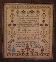 Mary Jane Smallman 1836 from Country Stitches