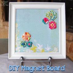 Super easy project!  Make your own magnet board... #DIY #Magnet board