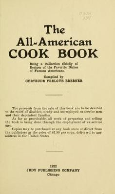 The all-American cook book;