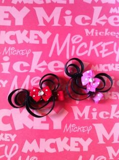 Minnie Mouse inspired from Disney Ribbon by SweetTangerineBoutiq, $4.00