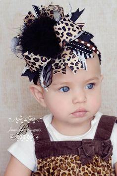 Leopard Print Hair Bow | How Do It Info