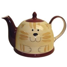 Cat Large Glazed Ceramic 56 oz. Teapot & Lid