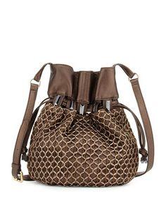 Echo Crochet-Overlay Bucket Bag, Bronze Metallic by Kooba at Neiman Marcus.
