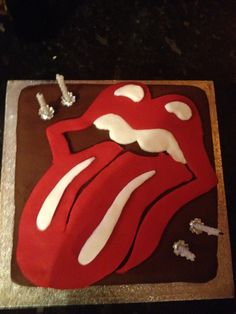 Baby Shower Rolling Stones and Birthday Cakes Food that ROCKS
