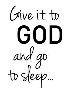 Give it to God Bible Verse Sleeping Printable Scripture Art Bible Quote Christian For Kids Girl's Room Wall Art Scripture Print Nursery art #ad