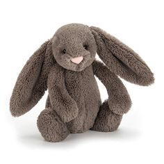 Jellycat Bashful Truffle Bunny Medium has soft truffle fur and incredibly long ears, such a cutie! Absolutely adorable sure to be a very popular bunny. Stuffed Animals, Dinosaur Stuffed Animal, Baby Annabell, Snuggles, Cuddling, Little Ones, Bunnies, Plush, Barn