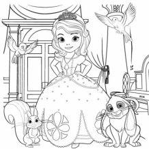 Sofia the First Coloring Page