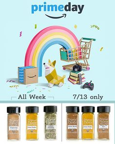 It's Amazon Prime Day and some of our spices have been discounted! You can get 20% and free Prime shipping on: Seafood Seasoning Curry Powder Gingersnap Cookie And the Taste of Asia Pack will also be on sale on Thursday. Don't miss these deals!! (Link in profile to see these on Amazon!) #primalpalatespices