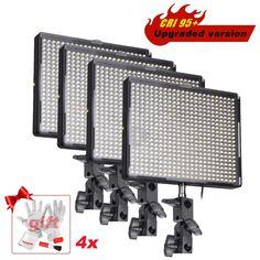 580.49$  Buy here - http://alik0q.worldwells.pw/go.php?t=32236114529 - 4pcs/lot Aputure Amaran AL-528W CRI 95+ 528 PCS Dimmable 3200K-5500K LED Video Studio Light Panels Photography for DSLR Camera 580.49$