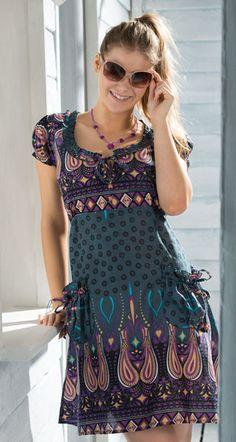 1266f913477 Hippy Dress Bohemian Tunic Dress Paisley Print Hippy Dress Fair Trade by Folio  Gothic Hippy D286