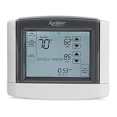 Aprilaire 8600 Universal Touch Screen Thermostat by Aprilaire. $121.98. The Aprilaire 8600 Universal Touch Screen Thermostat features a high contrast, intuitive LCD touch screen user interface that makes for super-easy programming. The thermostat works for nearly every home HVAC application, with installation and use truly ho