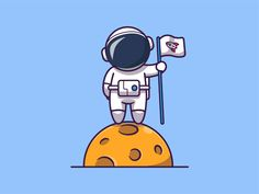 Cartoon Drawings, Easy Drawings, Cartoon Art, Cartoon Characters, Alien Drawings, Outline Illustration, Graphic Design Illustration, Astronaut Cartoon, Moon Icon