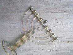 Minimalist Modern Hanukkah Menorah Vintage Upcycled by MeshuMaSH