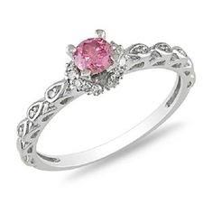 Pink Engagement Ring Zales 10