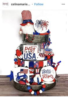 Fourth Of July Decor, 4th Of July Celebration, 4th Of July Decorations, 4th Of July Party, July 4th, July Crafts, Summer Crafts, Holiday Crafts, Holiday Decor