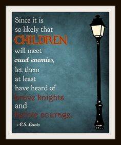 C.S. Lewis Typography Nursery Art