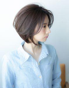 大人、ミセスのショートの髪型(YR-345)   ヘアカタログ・髪型・ヘアスタイル AFLOAT(アフロート)表参道・銀座・名古屋の美容室・美容院