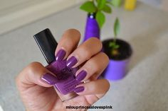 "miouprincess loves pink!: In the mood for purple - Avon ""Purplicious' gel finish nail polish #purple #nails #notd #mani #miouprincesslovespink #beauty #bloggers #nail_polish #july2014 #avon #purplicious #avoninsider"