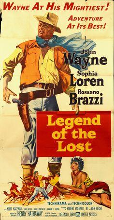 1957 movie posters | Legend of The Lost 1957 Orig Movie Poster 3SHEET Jwayne | eBay
