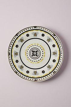 Garden Tile Dessert Plate By Anthropologie in Yellow Size SIDE PLATE Garden Tiles, Food Sculpture, The Bistro, Berry Baskets, Housewarming Present, Anthropologie Uk, Tile Coasters, Dinnerware Sets, Yellow Dinnerware