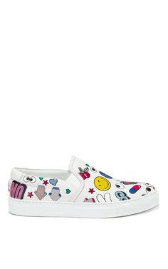 Skater Sneaker All Over Wink Stickers - Anya Hindmarch Resort 2016 - Preorder now on Moda Operandi